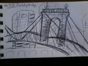 * the rabble at Roebling Bridge *