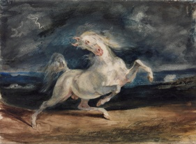 Eugene_Delacroix_-_Horse_Frightened_by_Lightning_-_Google_Art_Project
