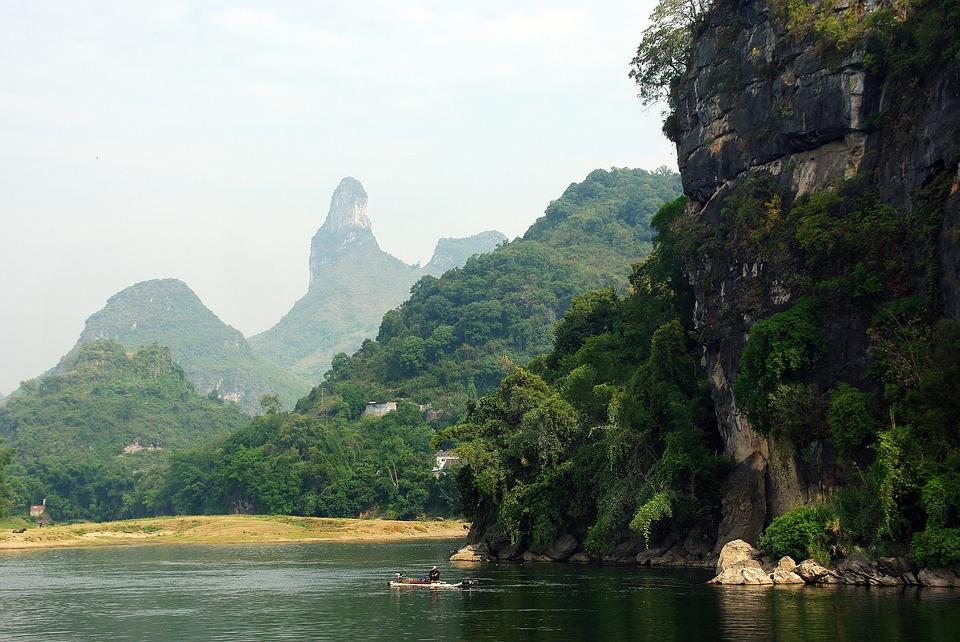 Yangshuo Li River Valley Fisherman China Boat
